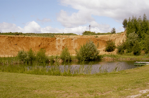 Ansicht einer Lehmgrube